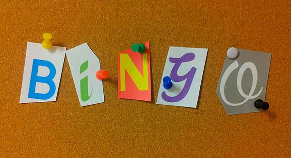 Ilustrasjon av ordet bingo